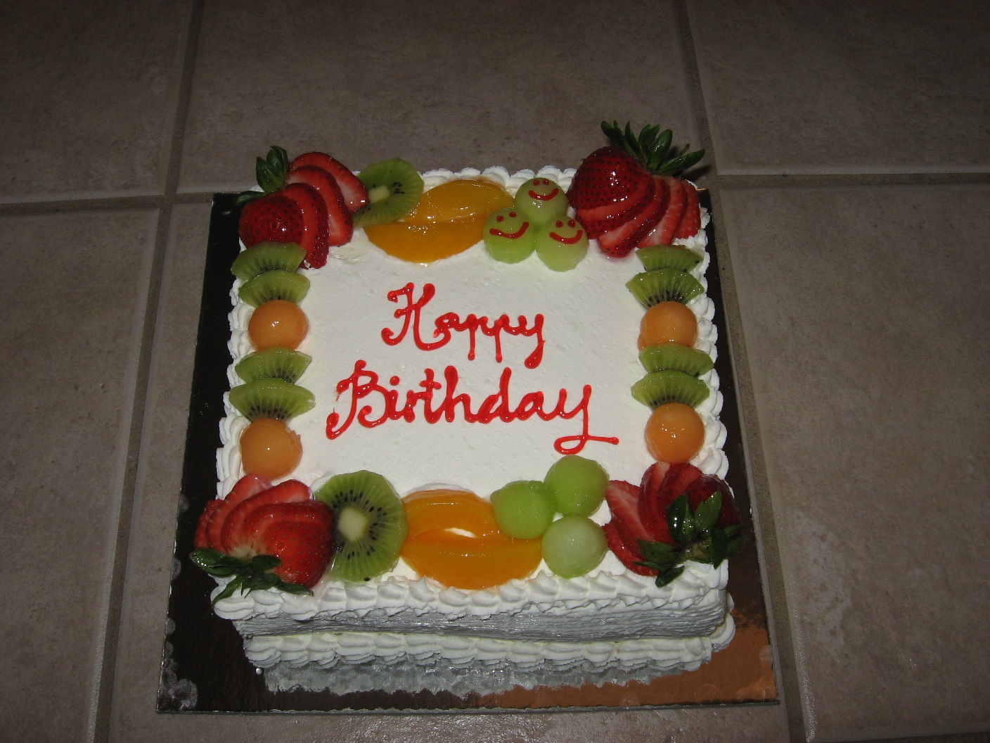 Cake Decoration with Fruits