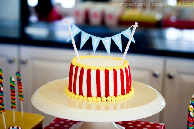 9 Simple Circus Cakes Photo Carnival or Circus Birthday Cake