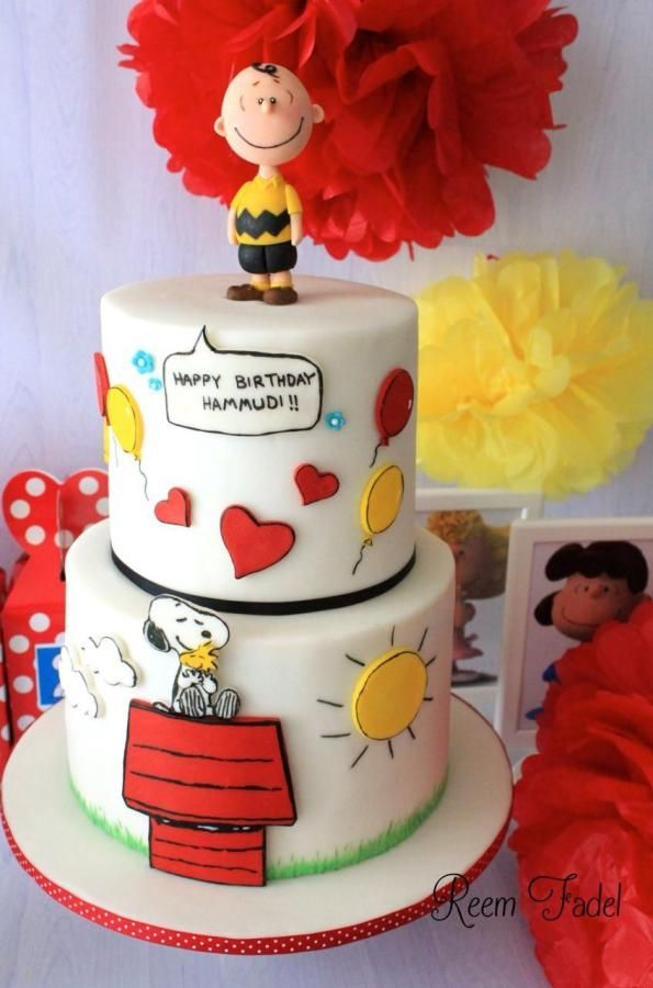 5 Charlie Brown Theme Cakes Photo Peanuts Birthday Cake Charlie