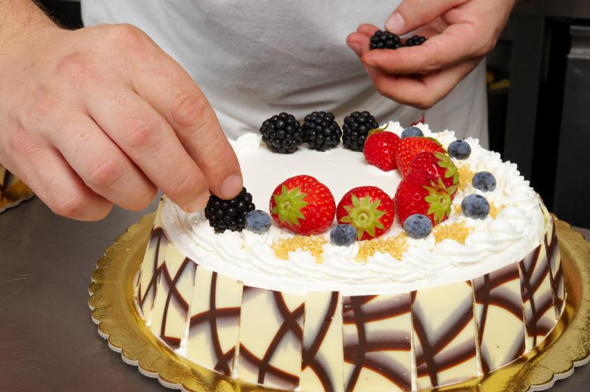 Decorating Cake with Fruit