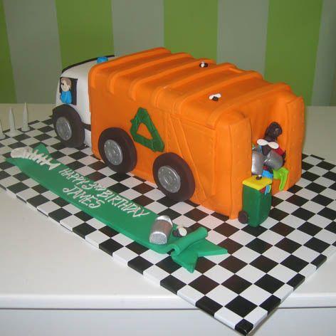 Amazing 7 Garbage Truck Birthday Cupcakes Photo Garbage Truck Birthday Personalised Birthday Cards Veneteletsinfo