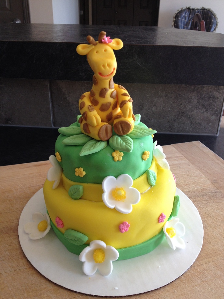 11 Giraffe 1st Birthday Cakes Pinterest Photo Giraffe 1st Birthday