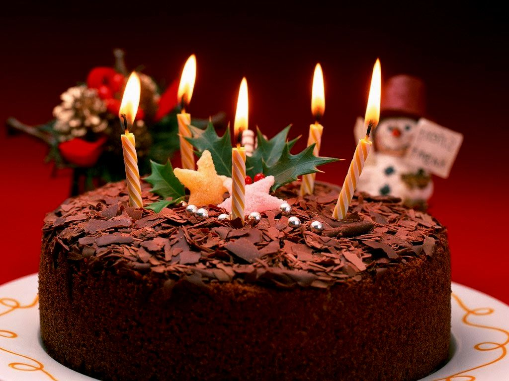 8 Beautiful Elegant Birthday Cakes With Candles Photo Happy