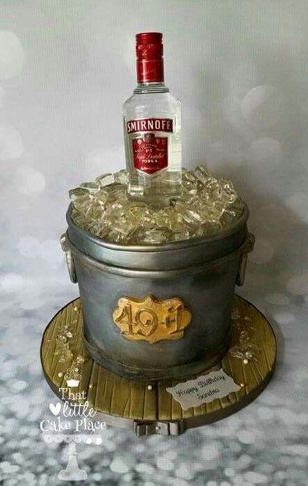 10 Cakes With Vodka Bottles On Top Photo Birthday Cake Vodka