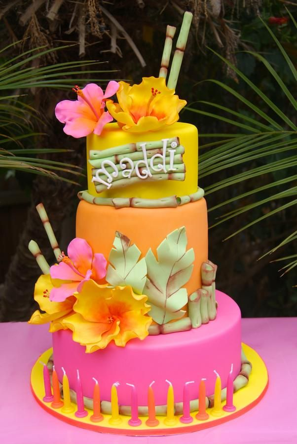 Groovy 9 Hawaiian Themed Girls Birthday Cakes Photo Hawaiian Themed Personalised Birthday Cards Epsylily Jamesorg