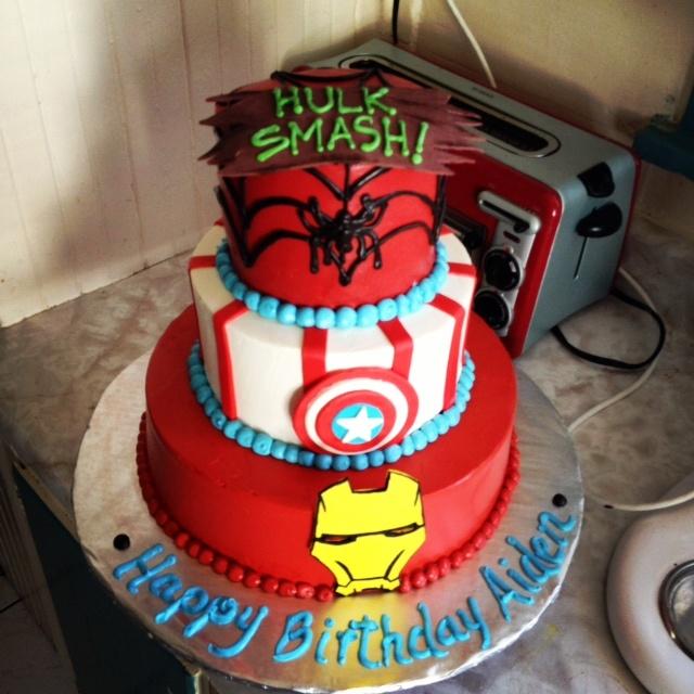 10 Boys Birthday Cakes Iron Man Photo Iron Man Captain America