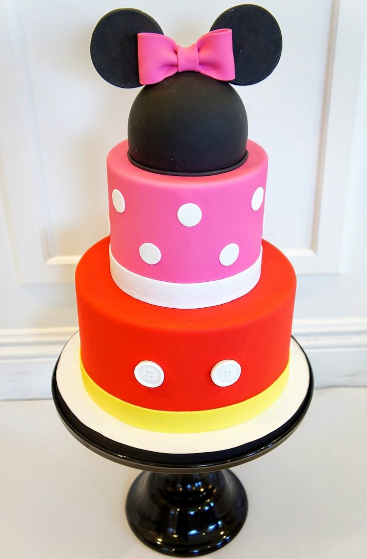 Tremendous 12 Simple Mickey And Minnie Birthday Cakes Photo Mickey And Personalised Birthday Cards Vishlily Jamesorg