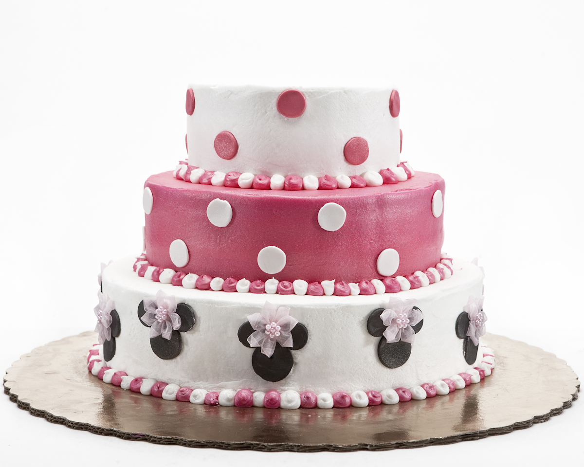 Minnie Mouse 3 Tier Birthday Cake