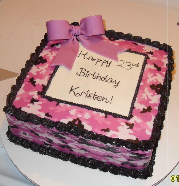 Astonishing 10 Candy Pink Camo Cakes Photo Pink Camo Cake Pink Camo Personalised Birthday Cards Paralily Jamesorg