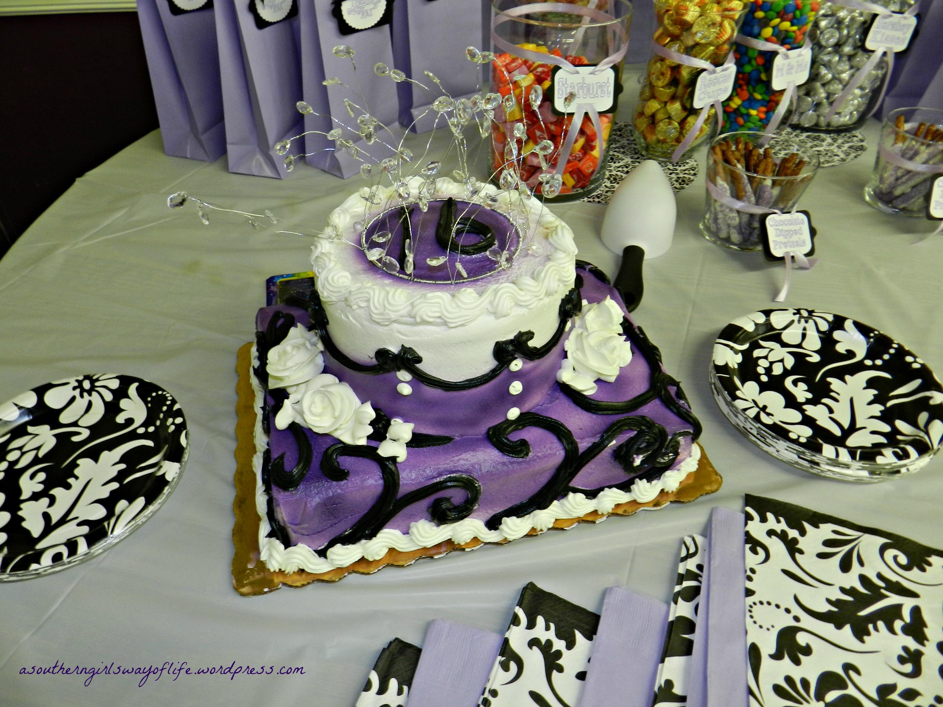 Publix Sweet 16 Birthday Cake