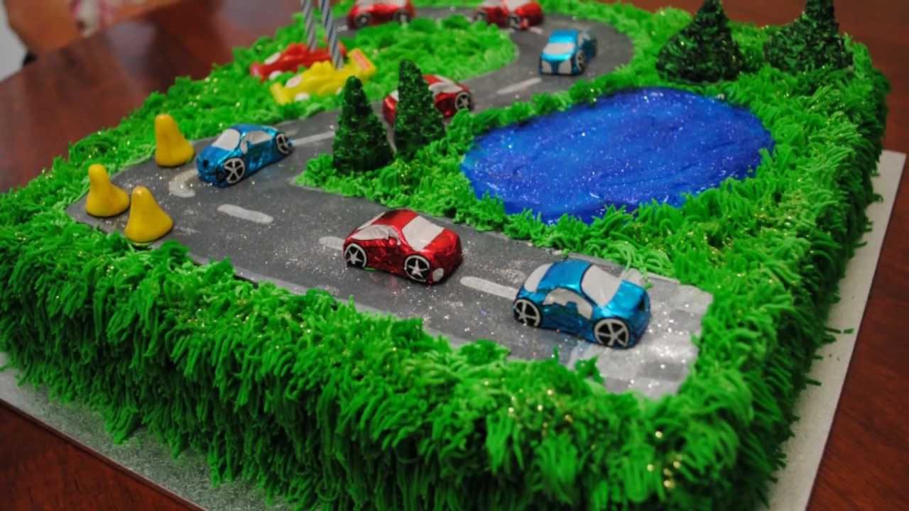 10 Homemade Race Car Cakes Photo Race Car Cake Idea Race Car