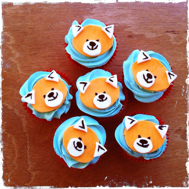 10 Birthday Panda Cupcakes Photo Red Panda Birthday Cake Panda