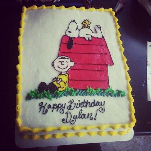 Super 5 Charlie Brown Theme Cakes Photo Peanuts Birthday Cake Charlie Personalised Birthday Cards Paralily Jamesorg