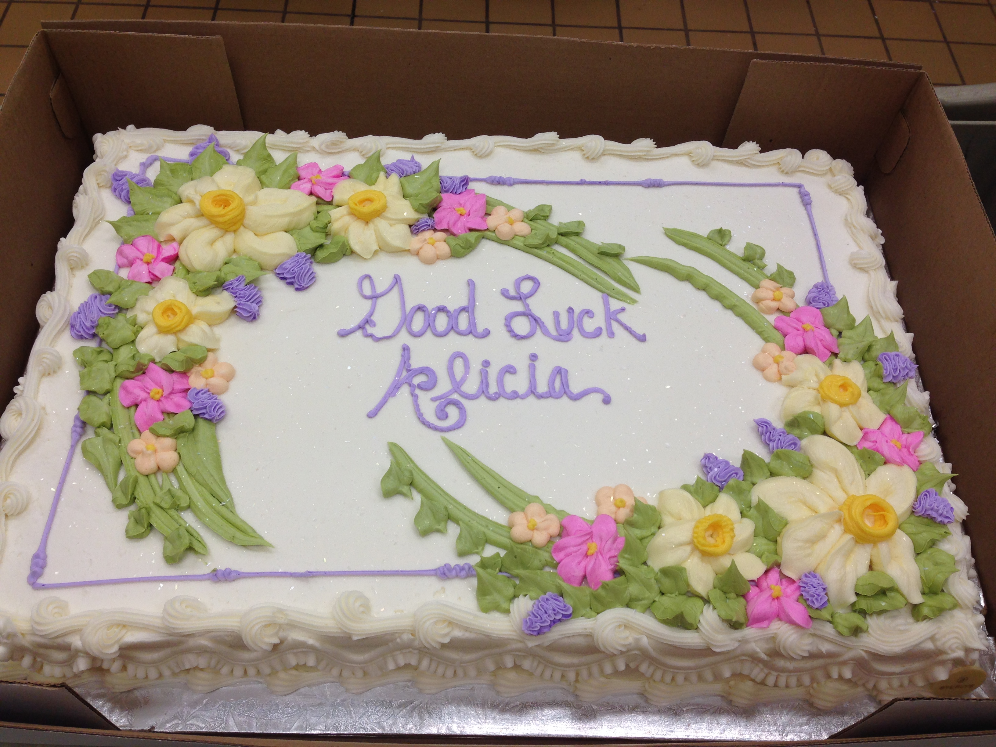 9 Sheet Cakes Decorated With Fresh Flowers Photo Publix Bakery