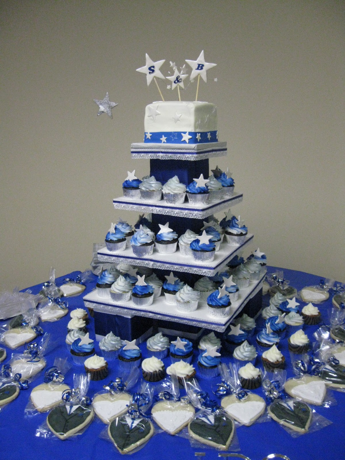 11 Blue Star Quince Cakes Photo Quinceanera Star Theme Cake