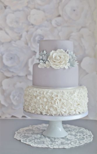 13 Separate Tier Wedding Cakes Grey And White Icing Photo Wedding