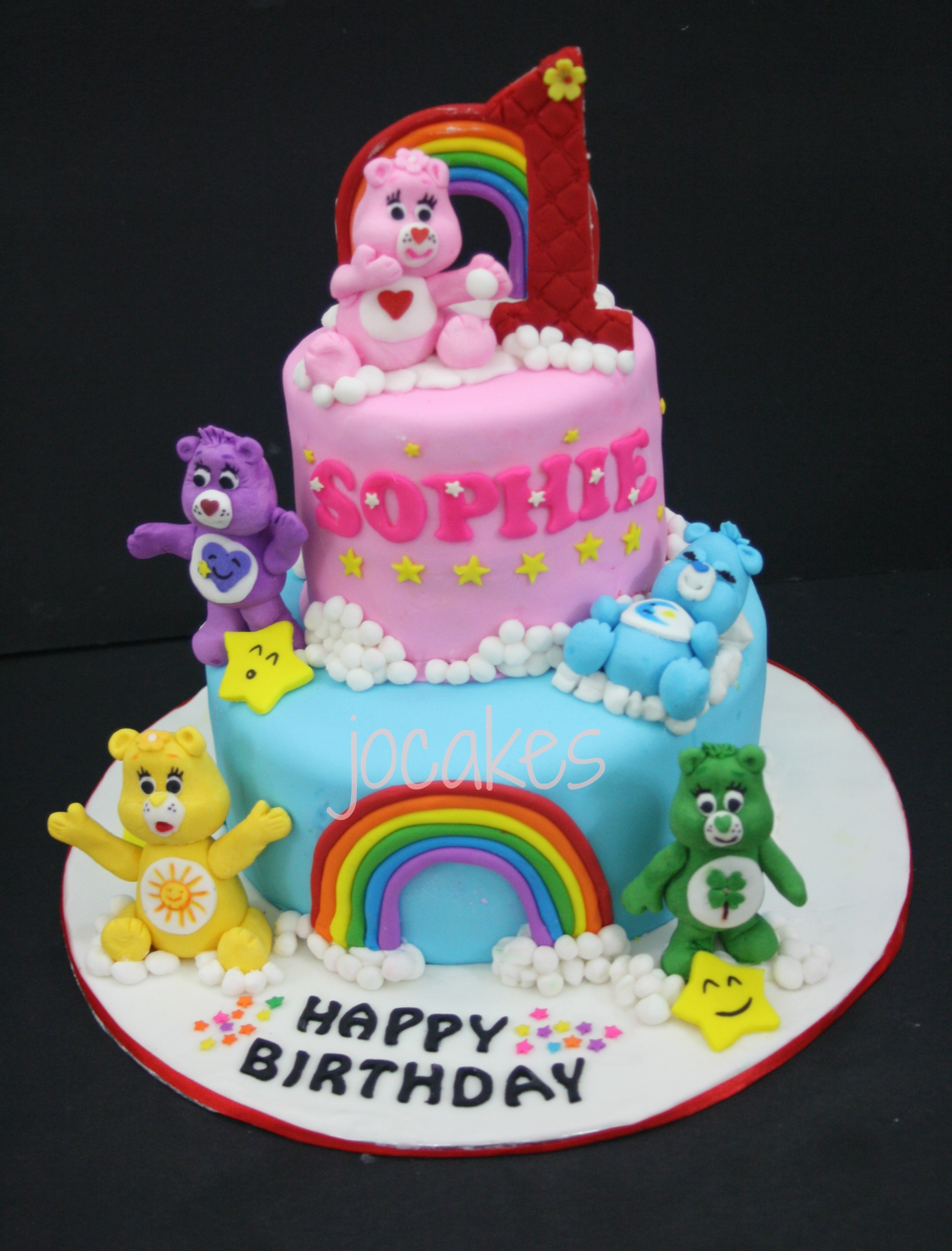 Super 11 Care Bear Birthday One Year Old Cakes For Girls Photo 1 Year Funny Birthday Cards Online Alyptdamsfinfo