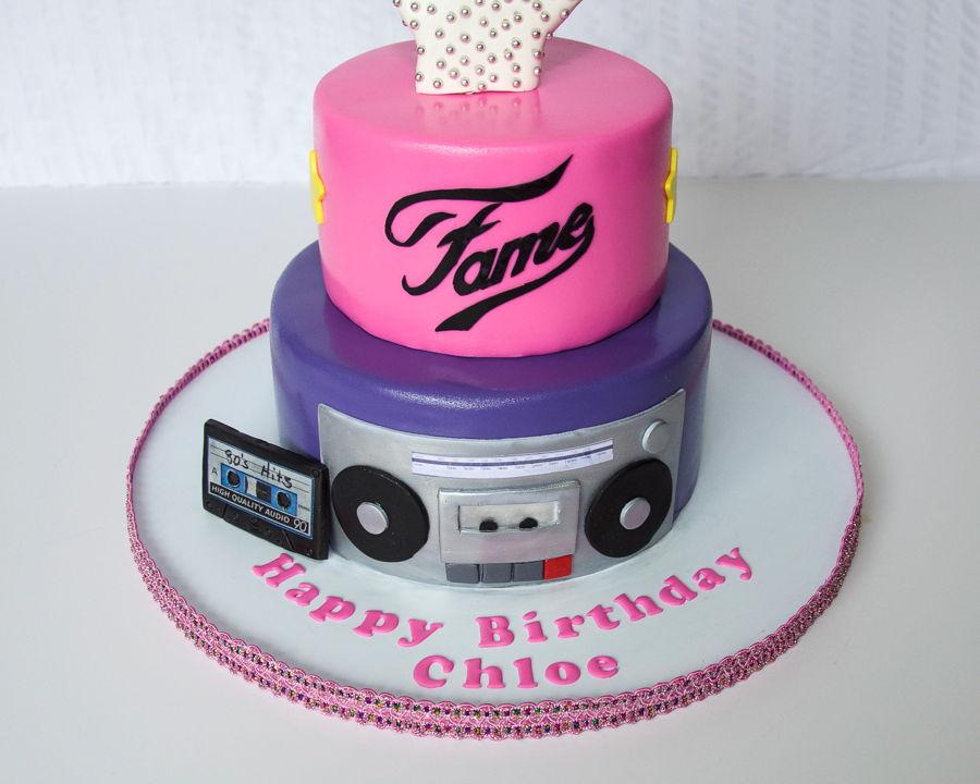80s Theme Birthday Cake
