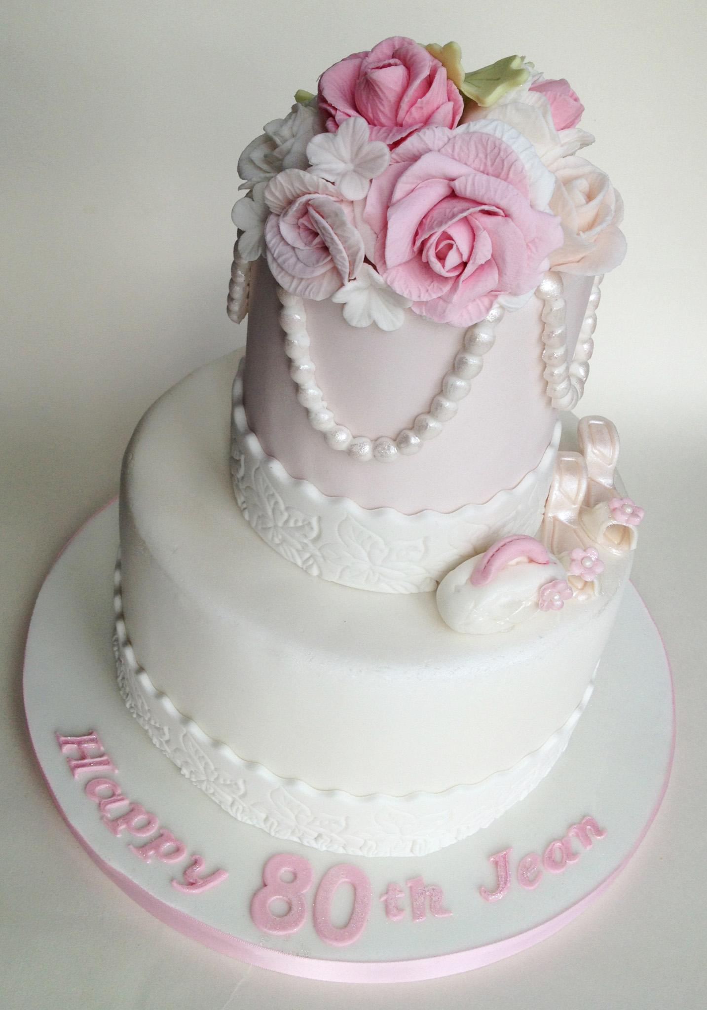 12 Pretty 80th Birthday Cakes Photo Fishbowl Birthday Cake The