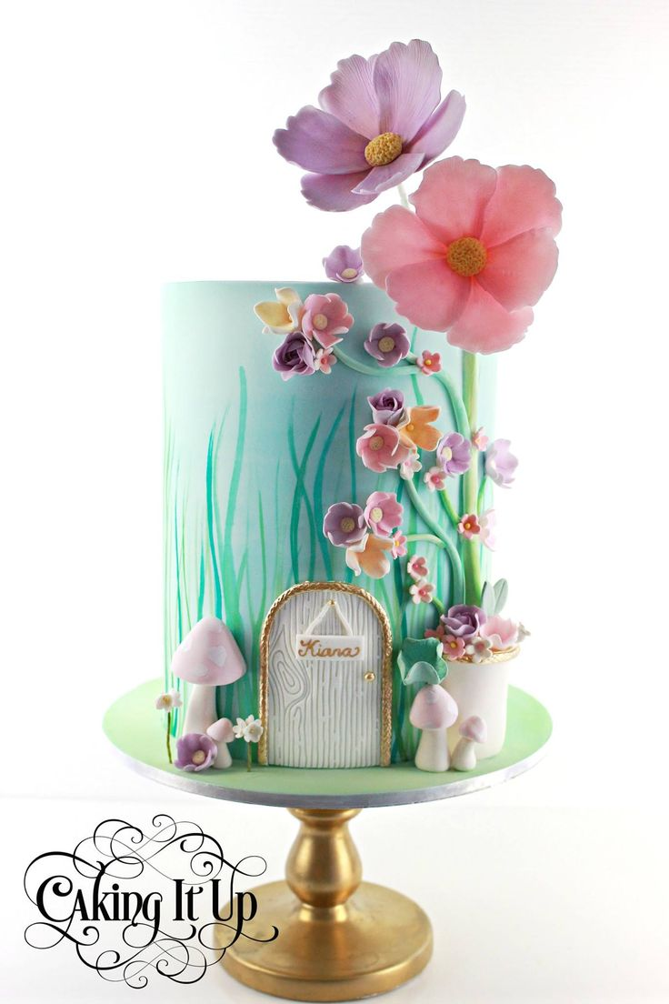 13 Pretty Spring Birthday Cakes Pinterest Photo Pretty Birthday