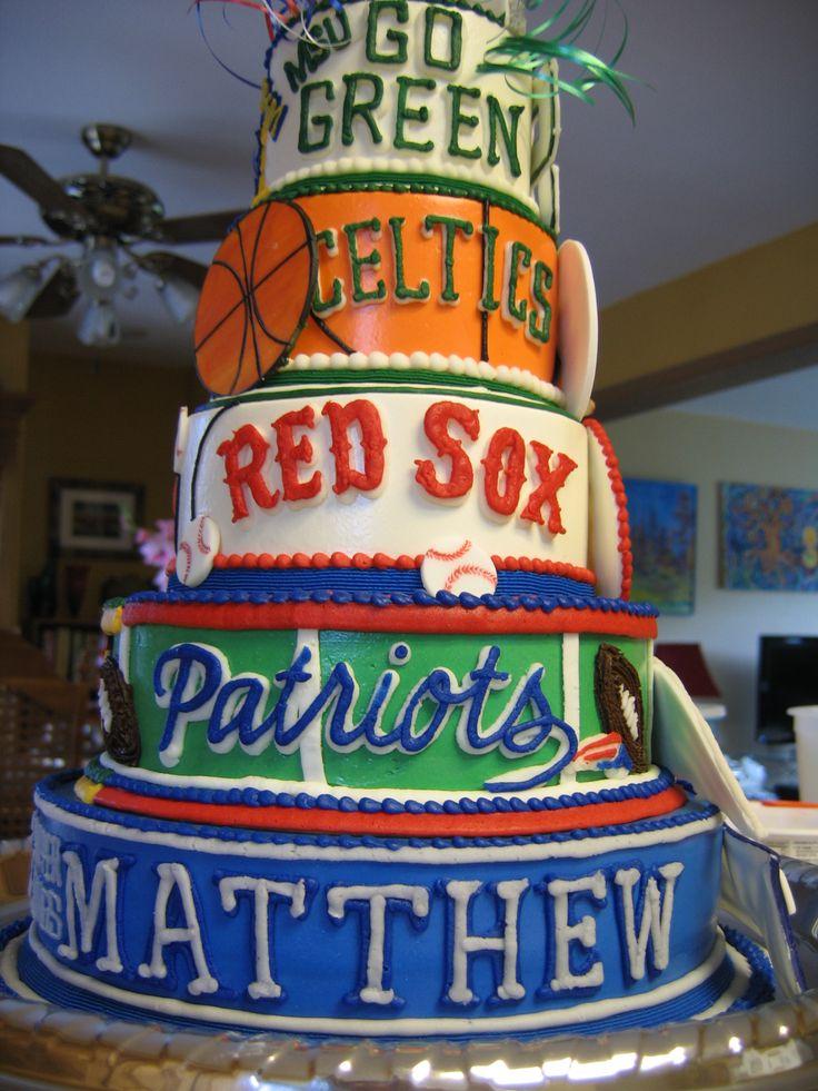 12 Sports Cakes For Teen Boys Photo Boys Birthday Cake Ideas