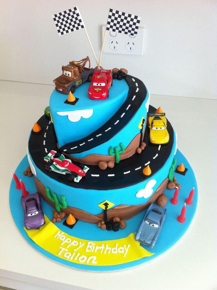 11 Aiden Car Birthday Cakes Photo Cars Birthday Cake Cars Fondant