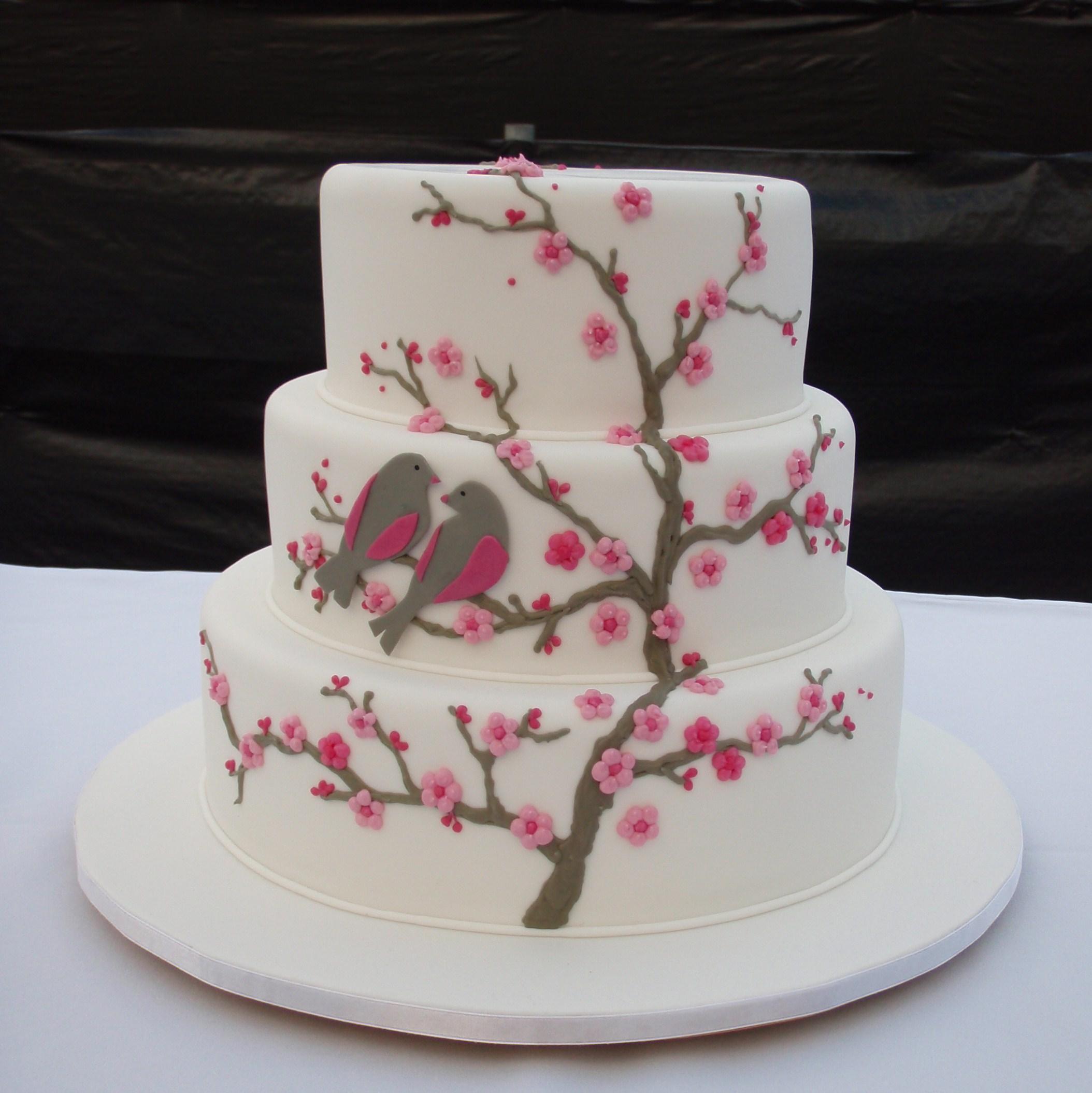 9 Elegant Cherry Blossom Cakes Photos Photo Cherry Blossom Wedding