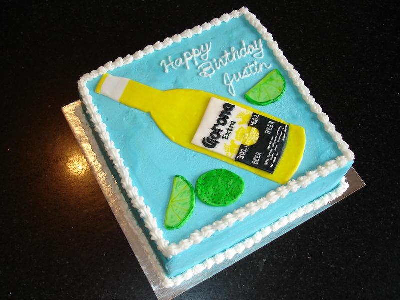Corona Beer Themed Birthday Cakes