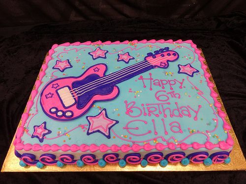 Super 10 Little Girls Rock Star Cakes Photo Girls Rock Star Birthday Funny Birthday Cards Online Kookostrdamsfinfo