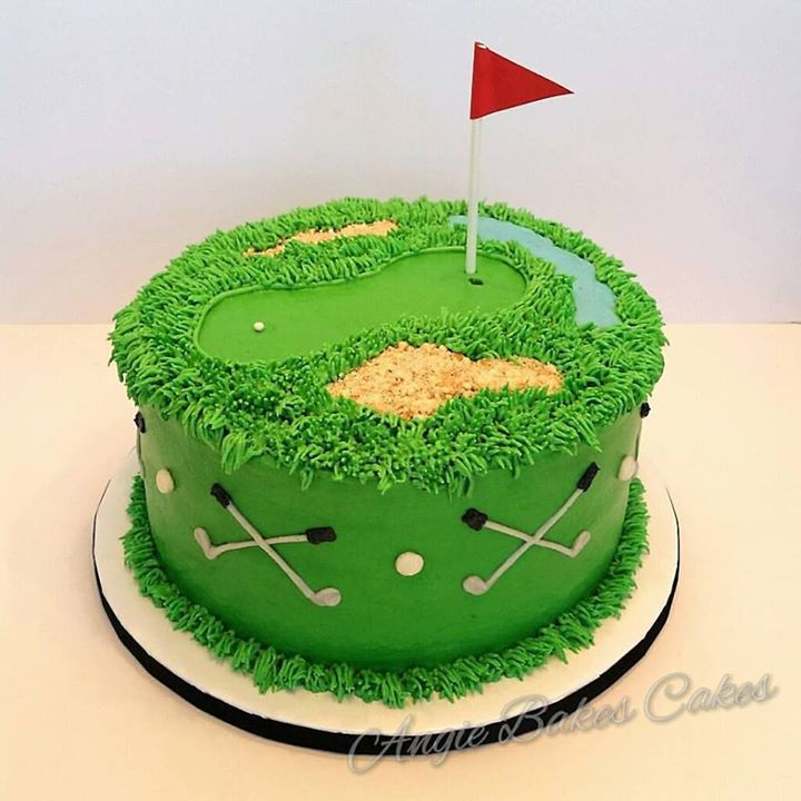 11 All Golf Birthday Cakes Photo Golf Birthday Cake Decorations