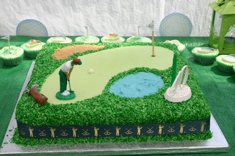 Golf Themed Birthday Cake