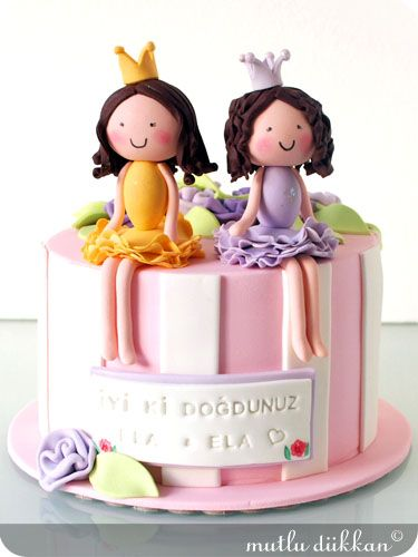 Strange 11 Twin Birthday Cakes For Girls Five Years Photo Happy Birthday Funny Birthday Cards Online Inifodamsfinfo