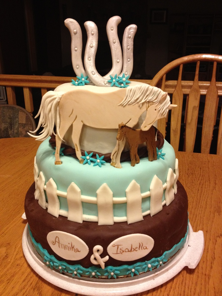 8 Girls On With Top Horse Cakes Photo Horse Birthday Cake Ideas