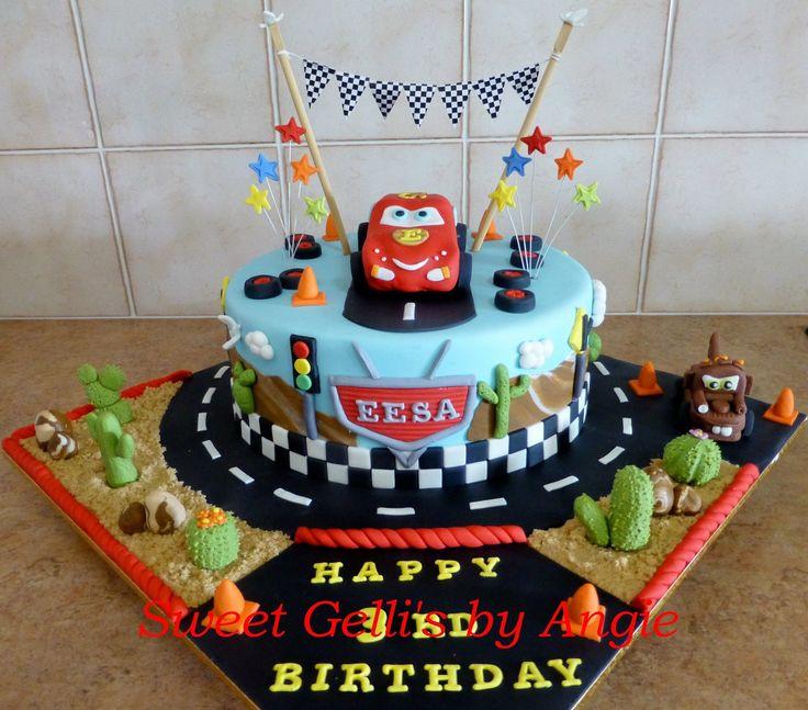 Sensational 13 Mcqueen Race Car Cakes Photo Cars Lightning Mcqueen Cake Funny Birthday Cards Online Ioscodamsfinfo