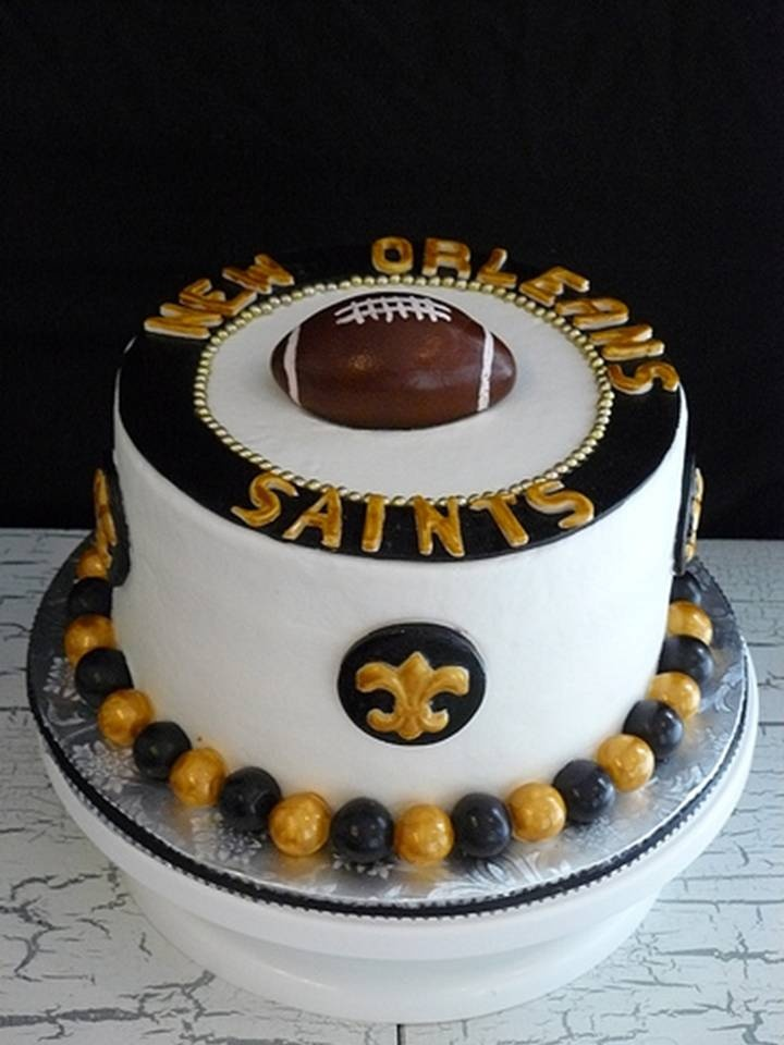Swell 9 Best Saints Cakes Photo New Orleans Saints Cake New Orleans Personalised Birthday Cards Cominlily Jamesorg