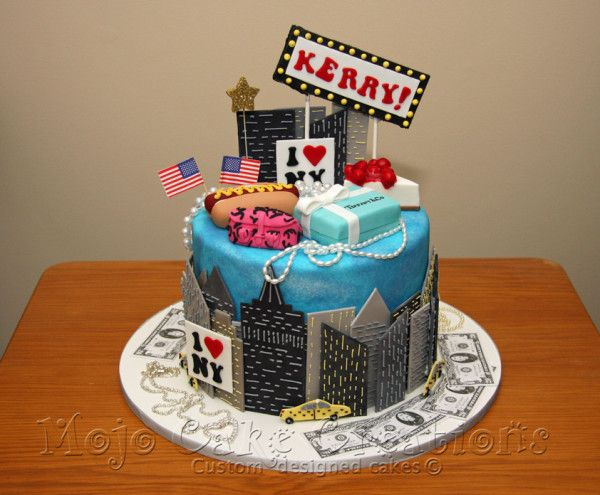 Peachy 8 New York City Themed Cakes Photo New York Themed Birthday Cake Birthday Cards Printable Riciscafe Filternl
