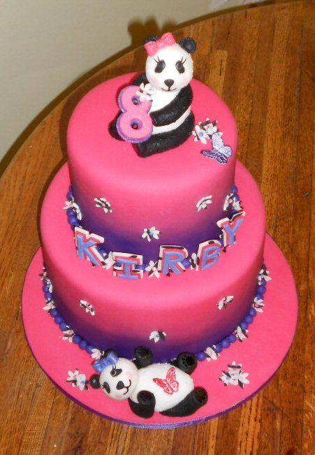 Strange 6 Panda Cakes For Girls Photo Panda Birthday Cake Panda Bear Funny Birthday Cards Online Inifofree Goldxyz