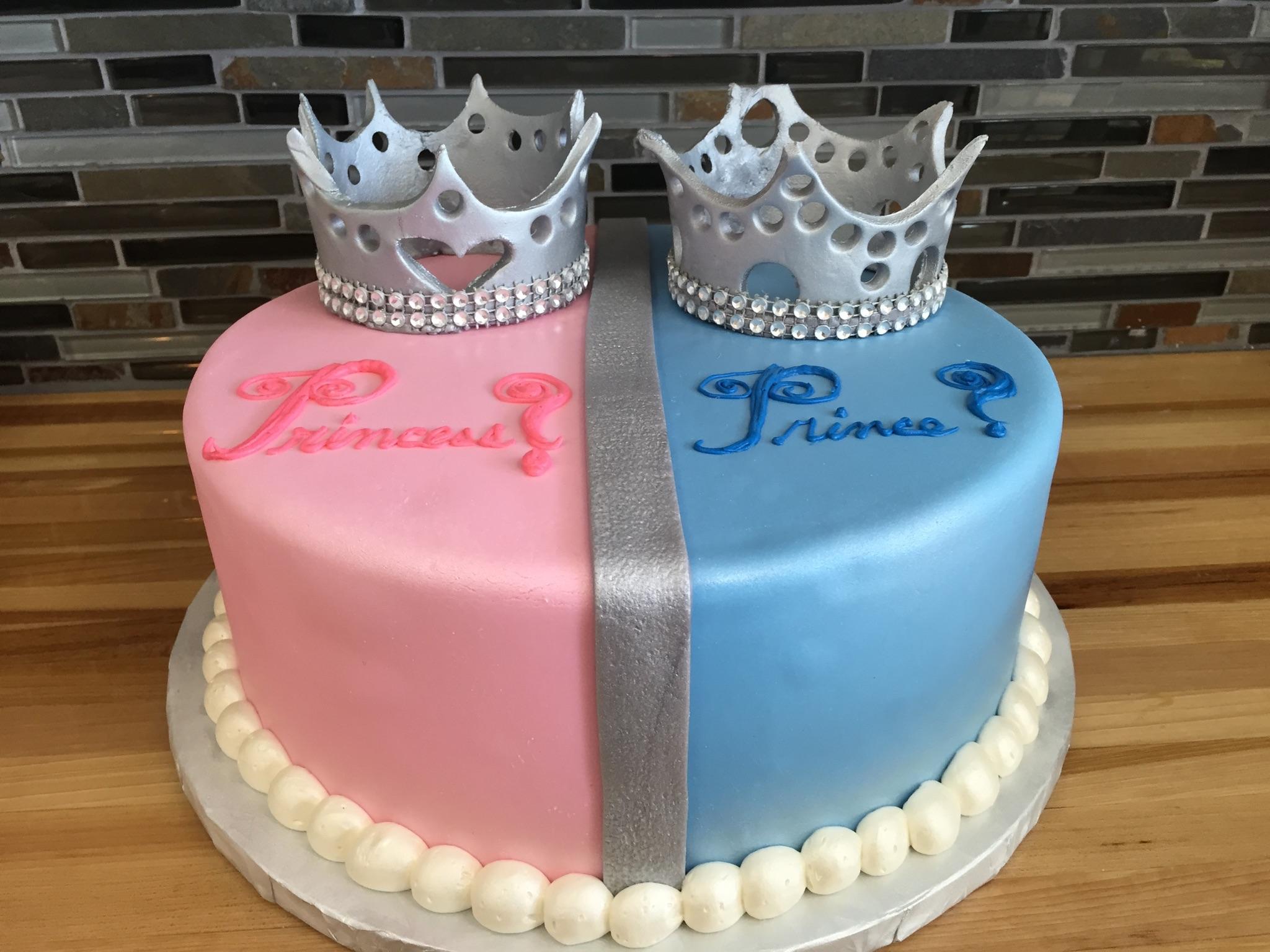 Prince or Princess Gender Reveal Cake