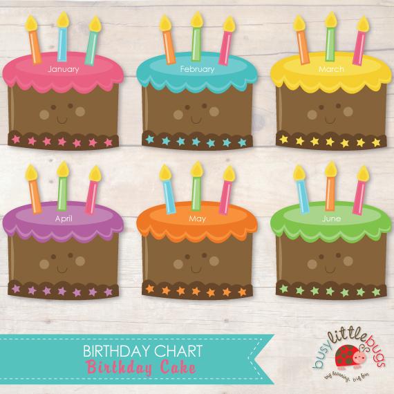 Printable Classroom Birthday Chart