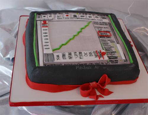 Stock Market Birthday Cake