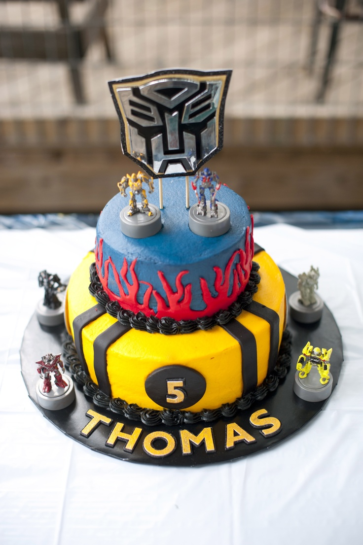 Transformers Birthday Party Cake