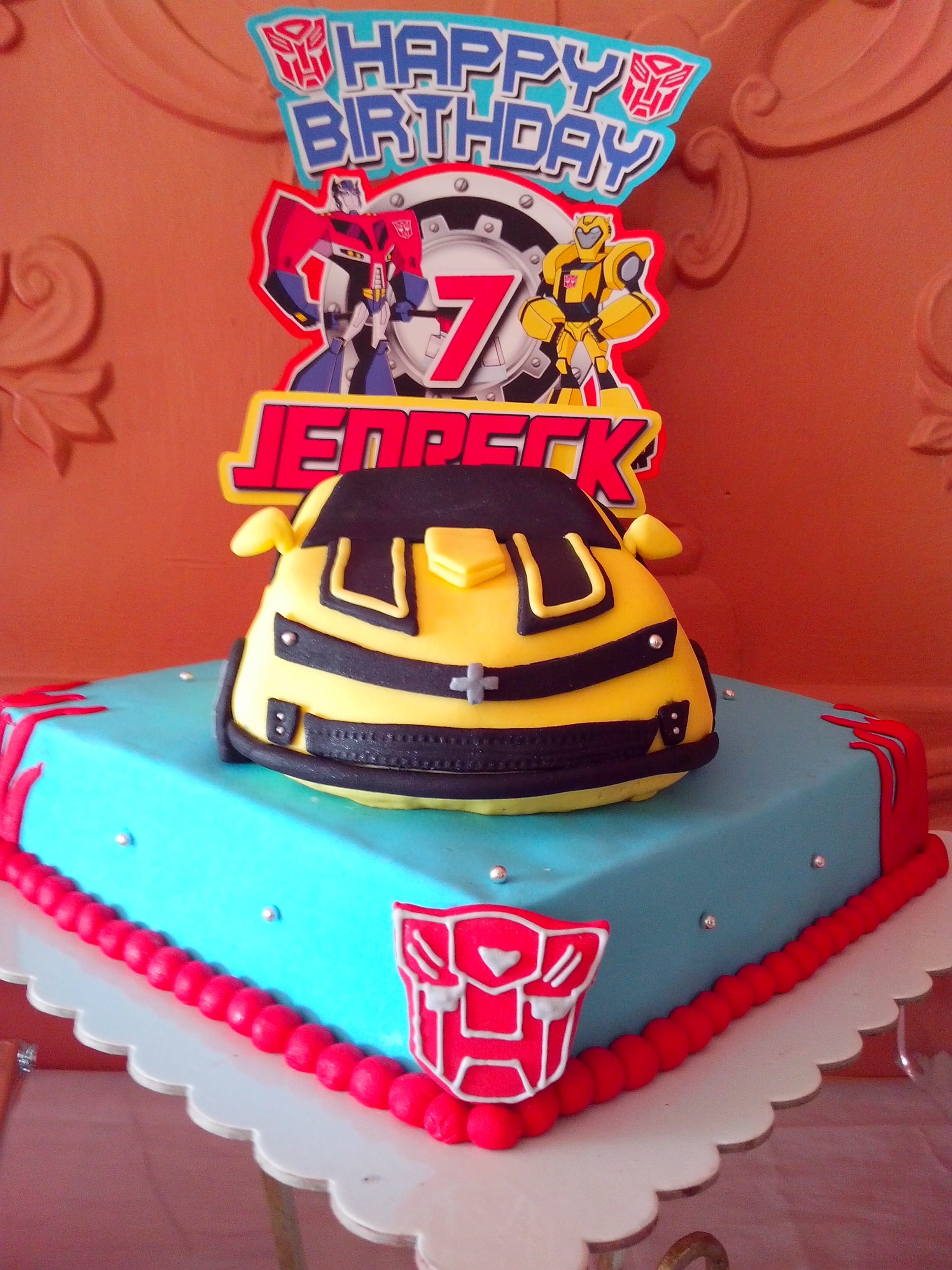 Transformers Birthday Party Cake
