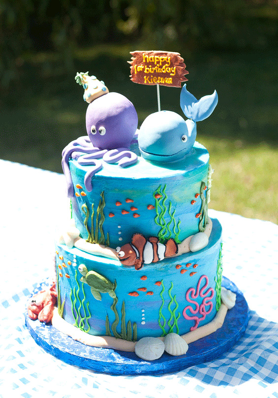 11 Under The Sea 1st Birthday Cakes For Boys Photo Under The Sea