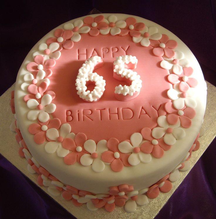 65th Birthday Cake Ideas
