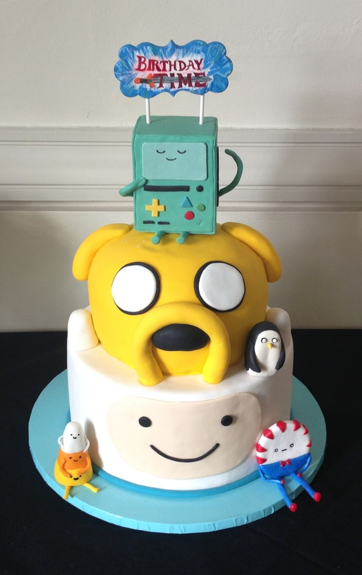 Super 7 Finn And Jake Birthday Cakes Photo Adventure Time Finn And Funny Birthday Cards Online Alyptdamsfinfo
