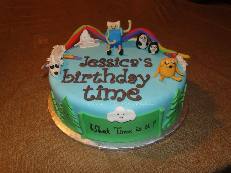 7 Finn And Jake Birthday Cakes Photo Adventure Time Finn And Jake