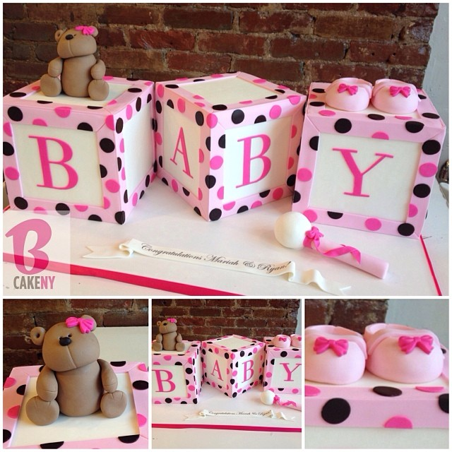 Block Baby Shower Cakes Image Cabinets And Shower Mandra Tavern Com