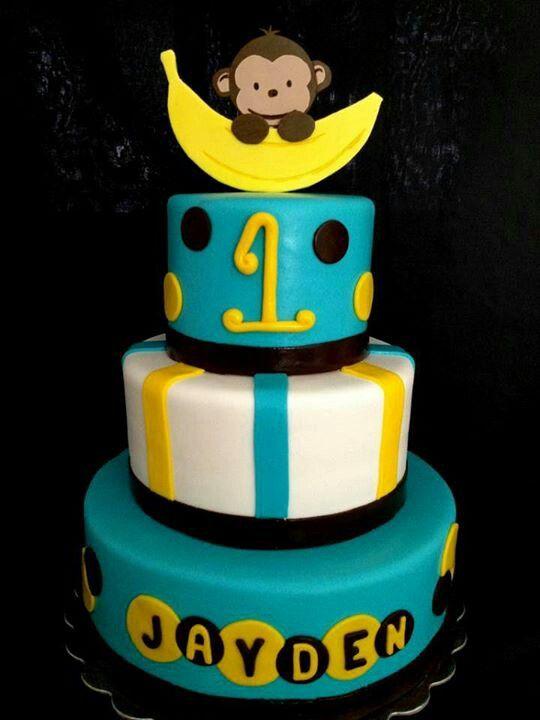 12 Monkey 1st Birthday Boy Cakes For Baby Photo