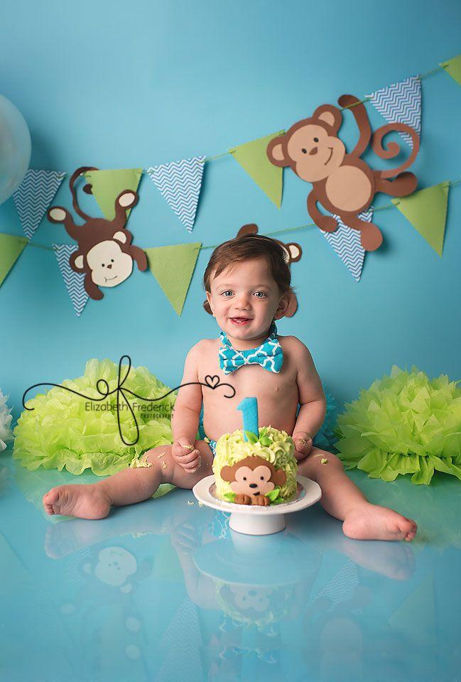 12 Monkey 1st Birthday Boy Birthday Cakes For Baby Photo Baby Boy