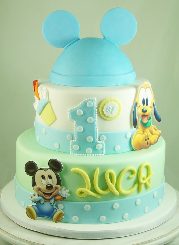 Fine 13 Baby Mickey And Minnie 1St Birthday Cakes Photo Minnie Mouse Funny Birthday Cards Online Alyptdamsfinfo